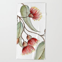 Flowering Australian Gum Beach Towel