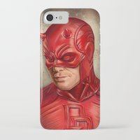 daredevil iPhone & iPod Cases featuring Daredevil by Vanessa Seixas