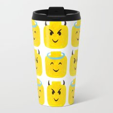 Emoji Minifigure Angel Devil Travel Mug