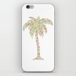Palm Tree Floral Watercolor iPhone Skin