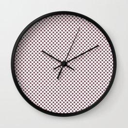 Renaissance Rose Polka Dots Wall Clock