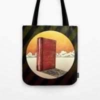literature Tote Bags featuring Literature Heavy book by gunberk