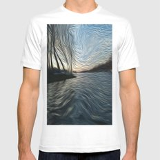 Lost in the Waves Mens Fitted Tee White MEDIUM