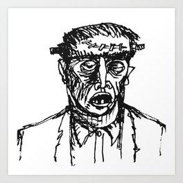 Fwankenstime's Monster Art Print