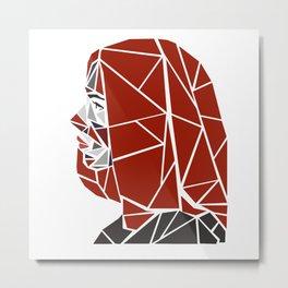Natasha Romanoff Polygonal Design Metal Print
