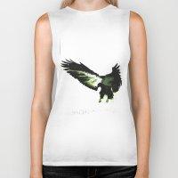 eagle Biker Tanks featuring Eagle by Yaroslav Greb