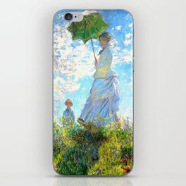 Monet : Woman with a Parasol iPhone Skin