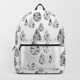 Crytal Raindrop in Gray Backpack