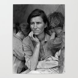 Migrant Mother - Florence Thompson And Children - 1936 Poster