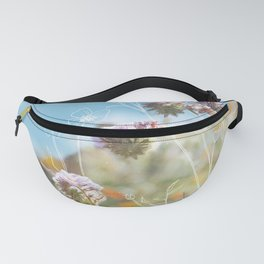 Purple Wildflower Field Fanny Pack