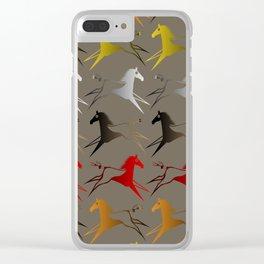 Native American War Horse Clear iPhone Case