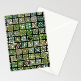 Vintage Quilted Pattern Wallpaper Stationery Cards