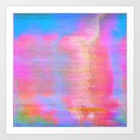 00-36-36 (Face Glitch) Art Print