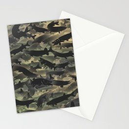 Pike fish camouflage Stationery Cards