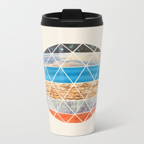 Eco Geodesic  Metal Travel Mug
