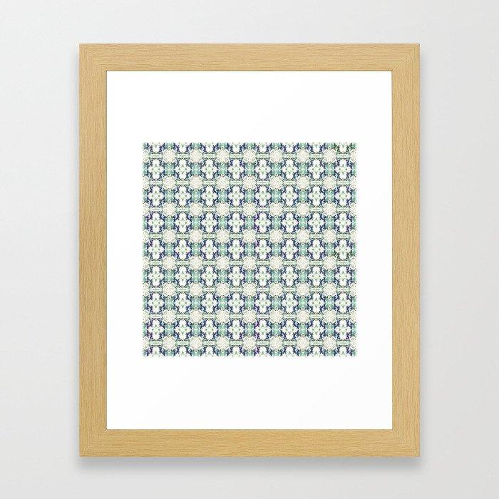 basket weave bg Framed Art Print