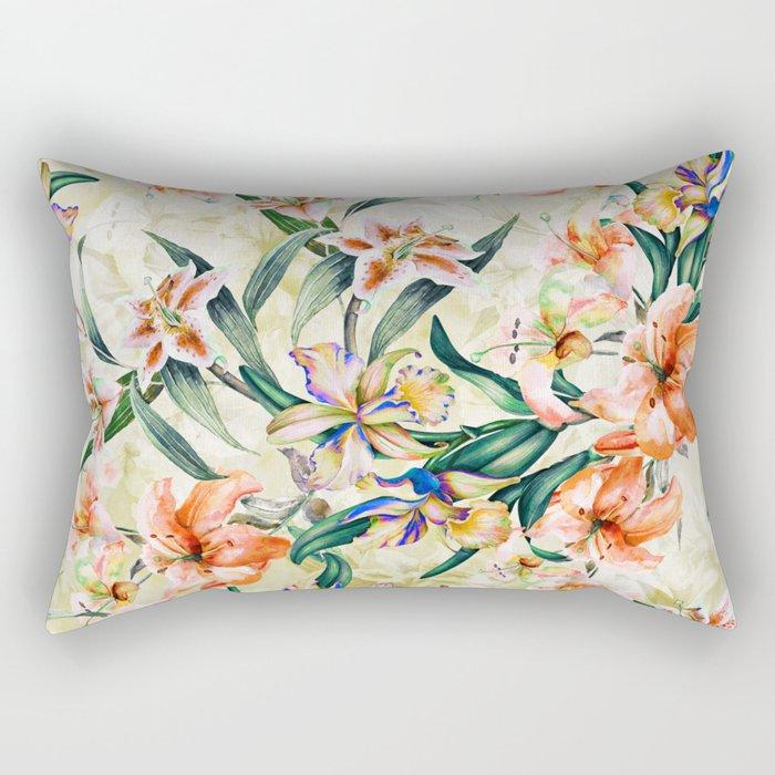 RPE Seamless Floral III Rectangular Pillow
