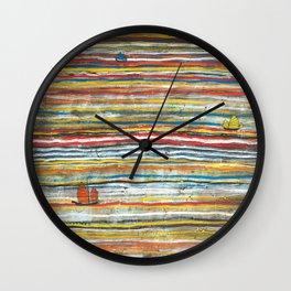 Three Junks Wall Clock