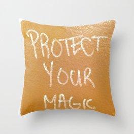 Protect Your Magic Throw Pillow