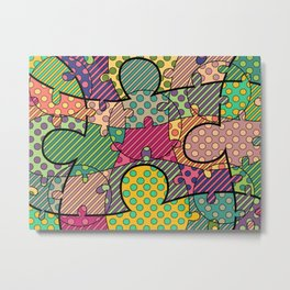 Very Puzzled 1.1 Metal Print
