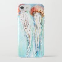 jelly fish iPhone & iPod Cases featuring Jelly Fish  by Felicia Atanasiu