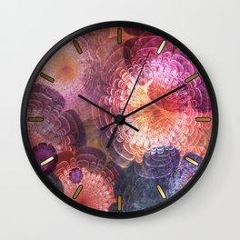 Fractal Corsage Wall Clock