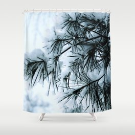 Snow Laden Pine - A Winter Image Shower Curtain
