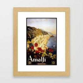 Vintage Italian 1930s Travel Poster- Amalfi Coast Framed Art Print