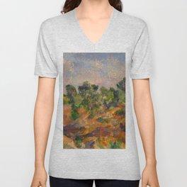 """Paul Cezanne """"Bibémus"""" Unisex V-Neck"""