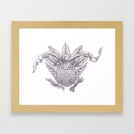 Give Thanks Turkey Framed Art Print