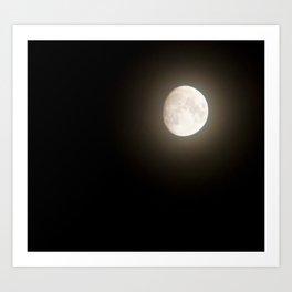 Hello, Moon Art Print