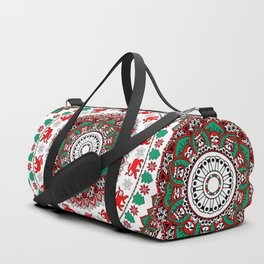 Mandala Christmas Sloth Duffle Bag