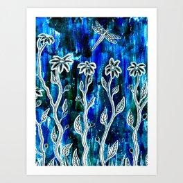 Hope Blooms Here Art Print