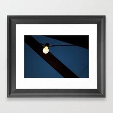 Bulb Moon Framed Art Print