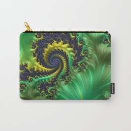 Green Lettuce Fractal by Amanda Martinson Carry-All Pouch