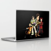 bastille Laptop & iPad Skins featuring OPC Bastille Technicolor (black) by Other People's Characters