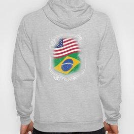 Brazilian American Flag Hoody