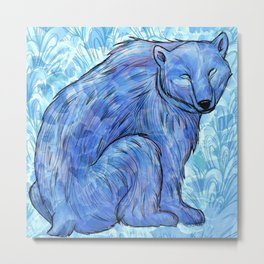 Knut the Polar Bear Metal Print