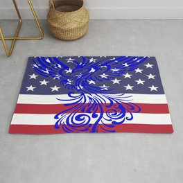 America Is Reborn Pro Democratic Phoenix Rug