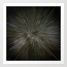 zooming towards stars Art Print