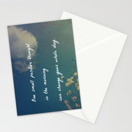 One Small Positive Thought in the Morning Stationery Cards