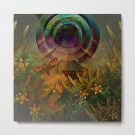 """A Psychedelic Forest"" Metal Print"