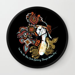 We Are All One Child, Spinning Through Mother Sky Wall Clock