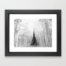 Aspen Teepee Framed Art Print