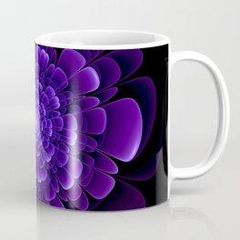 Violet flower pattern modern fractal art design Coffee Mug