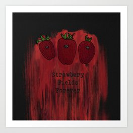 Nailed Strawberries Art Print