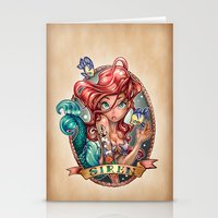 shipping Stationery Cards featuring SIREN by Tim Shumate