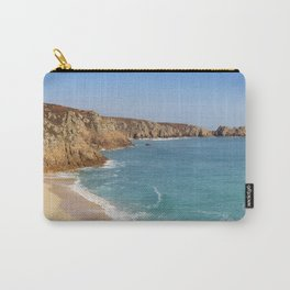 Turquoise sea at Porthcurno Beach in Cornwall, South England Carry-All Pouch