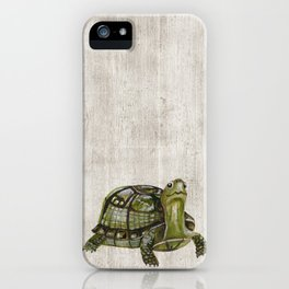 Little Turtle, Forest Animals, Woodland Decor, Woodland Art, iPhone Case