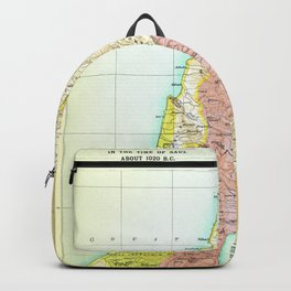 Old 1020BC Saul Palestine Map Backpack